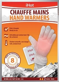 iHot Hand Warmers 2 Pack 40/ Sugg Ret $1.99***Limited Quantity***