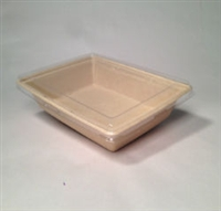 ULT-210184 Eco-Friendly Clear Recycled PET Lid for 36 oz. TreeSaverRectangluar Tray Ultra Green