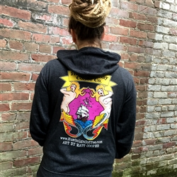 Artist Series Mermaid Unisex Zip Hoodie by Humboldt Bay Coffee Company featuring Matt Cooper