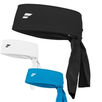 149109 101 Babolat Head Tie Black Headband (White)