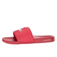 Lacoste Men's Fraisier Slide Sandal,Red/White
