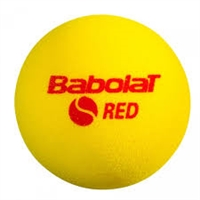 501037-113 BALLS TENNIS BABOLAT RED FOAM X3 (BANK, 3 PIECES)