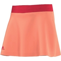 Adidas Girls` Club Trend Tennis Skort Sun Glow