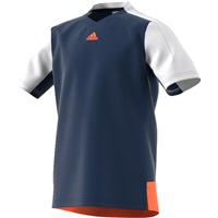 adidas Boys Melbourne Tennis Tee - Mystery Blue/Glow Orange