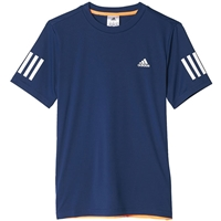 adidas Boys Club Tennis Tee - Mystery Blue/Glow Orange