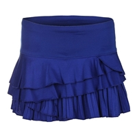 LUCKY IN LOVE TECHNICOLOR RALLY PLEAT SKIRT - SAPPHIRE