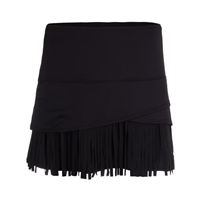 "Lucky in Love Fringe Scallop 14"" Tennis Skort - Black"