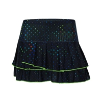 Lucky In Love Technicolor Cosmic Pleat Tier Skirt