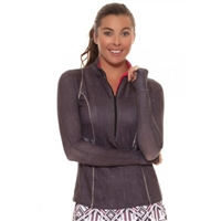 Lucky in Love Fast Lane 1/4 Zip Tennis Top