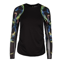 Lucky In Love - Women`s Aurora Long Sleeve Tennis Crew Black