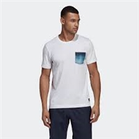 DV2965  Adidas Parley Pocket Tee, White