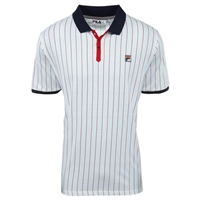 Fila Men's Core Heritage BB1 Polo- Peacoat Blue, Chinese Red, White LM161RM5-100