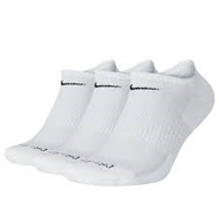 SX6889-100 Nike 3 Pack Everyday Dri-fit Cushion Low Cut Socks