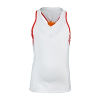 Lucky in Love Girls`V-Neck Racerback Tennis Tank White