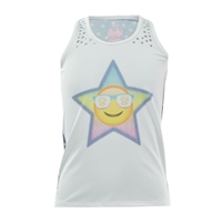 Lucky in Love Girls Starry Eyed Tennis Tank