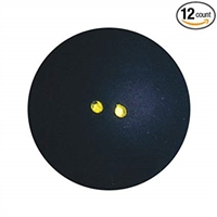 T700067 DUNLOP 1371546 Pro Double Dot Squash Ball - Pack of 12