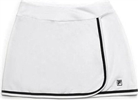 Fila Women's Tennis Advantage Long Skorts, White/Black