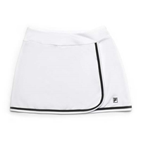 Fila Advantage Long Skort - White with Black Trim