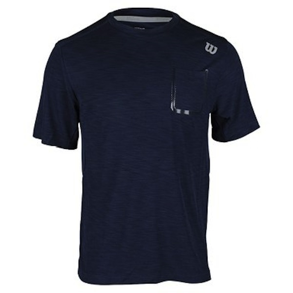 Wilson Men's Star Textured Crew - Navy WRA731004