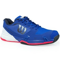 Wilson Men's Rush Pro 2.5 Tennis Shoes - methyl blue/black/fiery coral