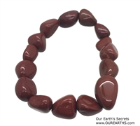 Red Jasper Tumble Stones Elastic Bracelet 19 cm (7.5 Inches)