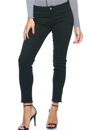 Distressed ankle cut skinny stretch Jeans