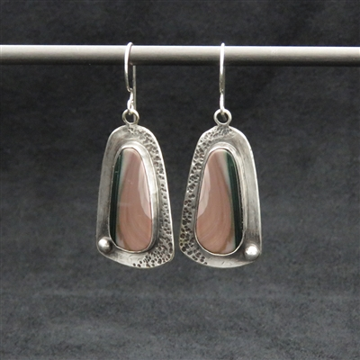 Sterling Silver Earrings and  Imperial Jasper