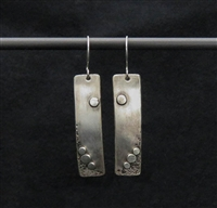 Sterling Silver Rectangle Earrings