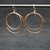 Copper Double Hoop Earrings