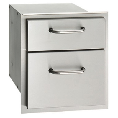 "16"" x 15"" Double Drawer, Stainless Steel"