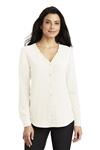 Port Authority Ladies Long Sleeve Button-Front Blouse