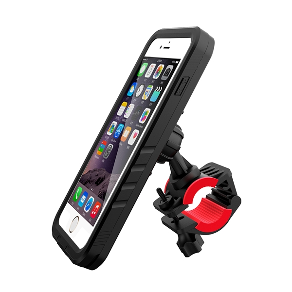 Polaris VENTURA BIKE MOUNT WITH W/P CASE FOR IPHONE 7+/8+, Black, One Size