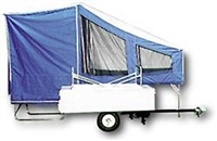 Time Out Trailers easy camper, motorcycle camping trailer.