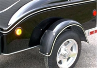 Fender Bra for pull behind motorcycle cargo trailers