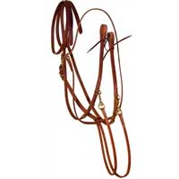 Leather German Martingale with Split Reins at Working Horse Tack