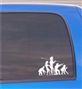 Evolution funny Vinyl Decal Sticker