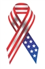 USA United States Flag Ribbon Vinyl Decal Sticker