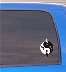 Ying Yang Whales Vinyl Decal Sticker