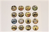 16pc Funny Faces 3D Home Button Stickers for Apple iPhone 5 4/4s 3GS 3G, iPad 2, iPad, iPad mini, iPad 3, iPad 4, itouch