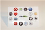 16pc Misc Items 3D Home Button Stickers for Apple iPhone 5 4/4s 3GS 3G, iPad 2, iPad, iPad mini, iPad 3, iPad 4, itouch