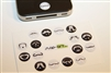 16pc Mustaches 3D Home Button Stickers for Apple iPhone 5 4/4s 3GS 3G, iPad 2, iPad, iPad mini, iPad 3, iPad 4, itouch