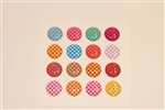 16pc Polks Dot and Checkered Patterns 3D Home Button Stickers for Apple iPhone 5 4/4s 3GS 3G, iPad 2, iPad, iPad mini, iPad 3, iPad 4, itouch