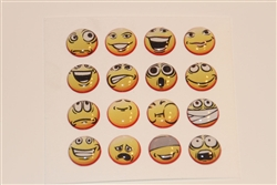 16pc Smiley Faces 3D Home Button Stickers for Apple iPhone 5 4/4s 3GS 3G, iPad 2, iPad, iPad mini, iPad 3, iPad 4, itouch