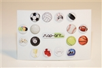 16pc Sports 3D Home Button Stickers for Apple iPhone 5 4/4s 3GS 3G, iPad 2, iPad, iPad mini, iPad 3, iPad 4, itouch