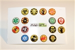 16pc Zombie 3D Home Button Stickers for Apple iPhone 5 4/4s 3GS 3G, iPad 2, iPad, iPad mini, iPad 3, iPad 4, itouch