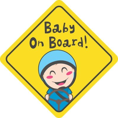 Baby On Board Kid Driving Decal Sticker Bumper Stickers