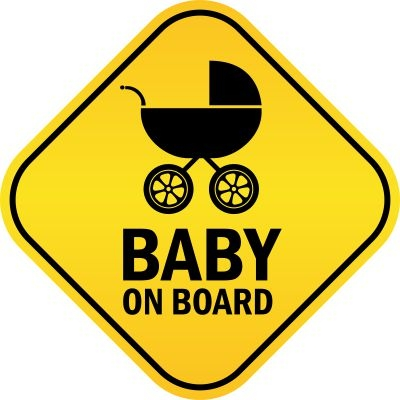 Baby On Board With Stroller Decal Sticker Bumper
