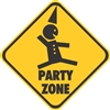 Party Zone Vinyl Decal Sticker