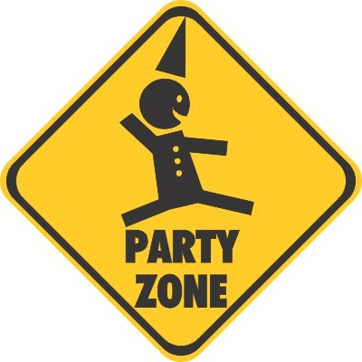 Party Zone Decal Sticker Bumper Stickers Car Stickers