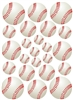 23 Baseballs Vinyl Wall Art Decal Peel and Stick Sticker